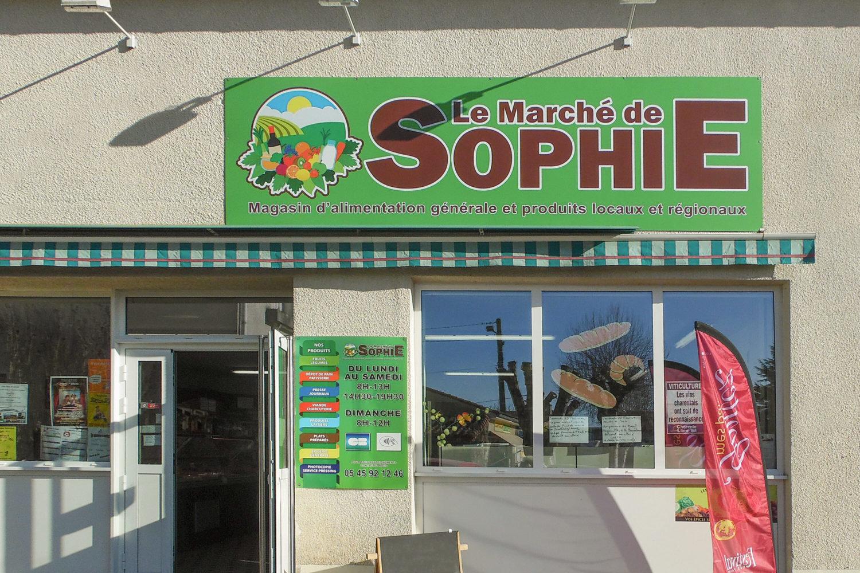 habillage facade «Marché de Sophie»
