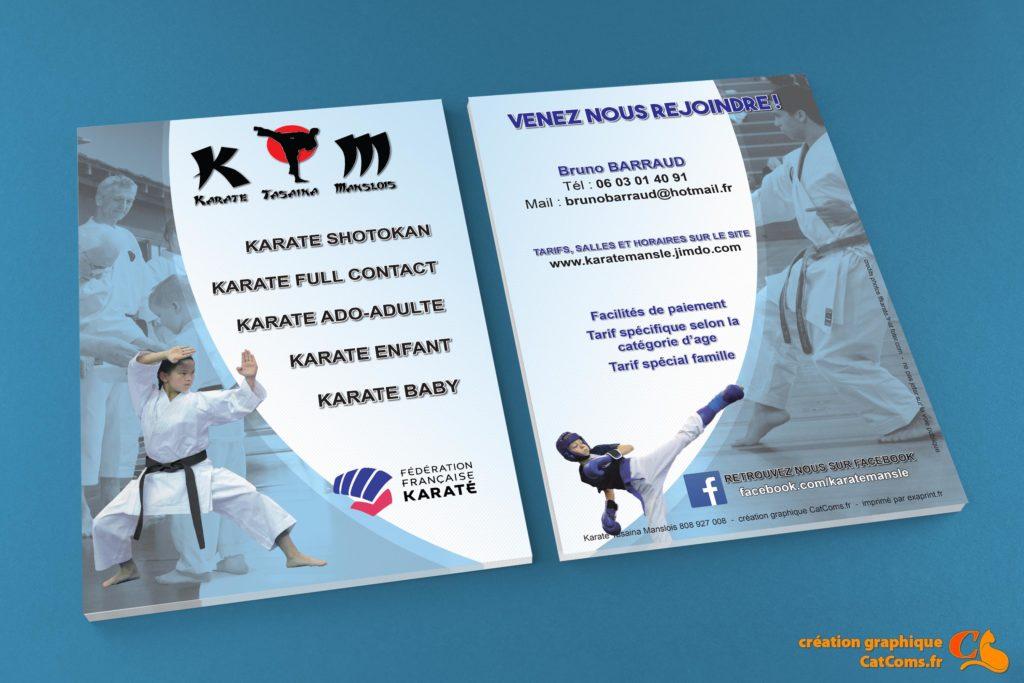 """Flyer pour le club de karaté """"KTM"""""""