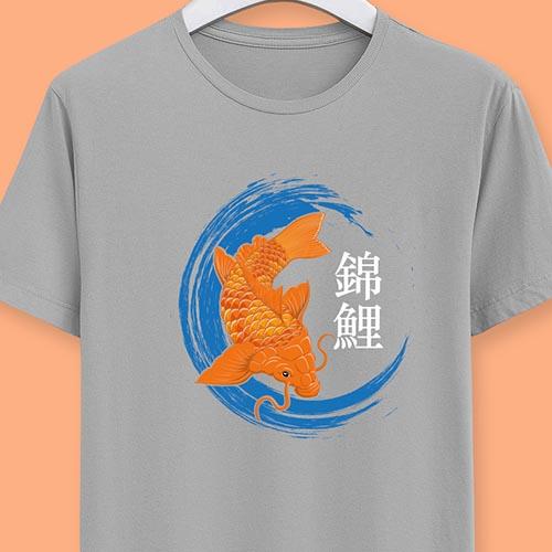 T-shirt personnalisé avec une carpe