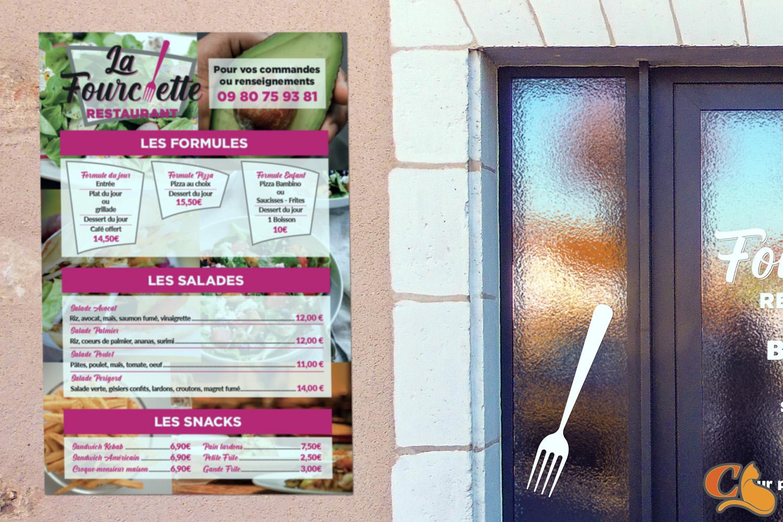 panneau menus